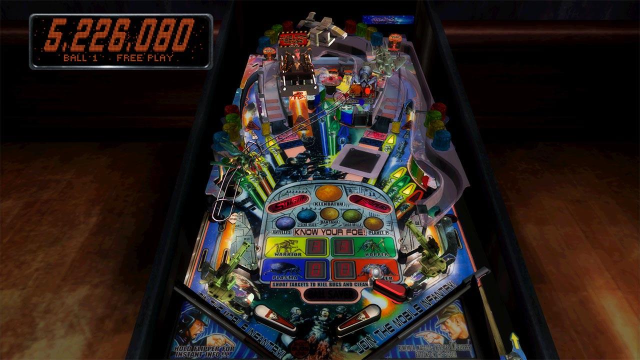 Mesa de pinball starship troopers en ps3 playstation for Pinball de mesa