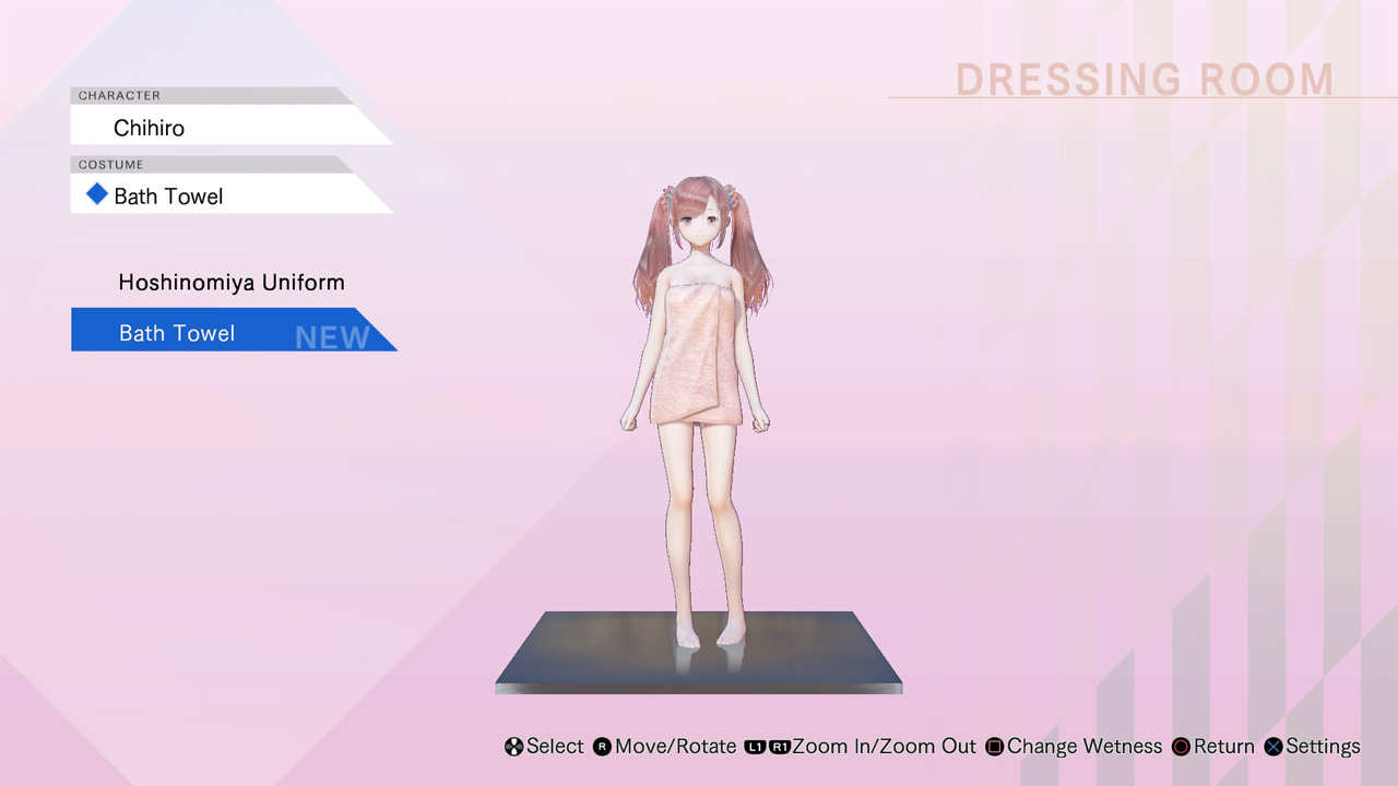 Blue Reflection: Bath Towels Set C (Lime, Fumio, Chihiro) 2017 pc game Img-2