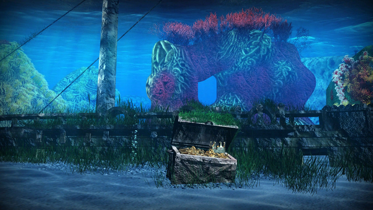an underwater treasure chest dynamic theme on ps4 official