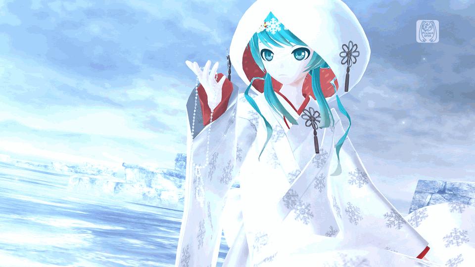 Hatsune Miku Project Diva F Snow Miku 2013 Costumes On Ps