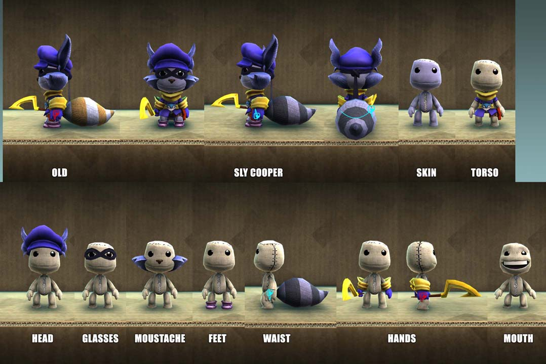 Lbp 2 Playstation 174 Move Heroes Sly Cooper Costume Pack Sur